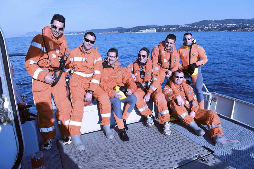 Une des équipes de sauveteurs bénévoles de la station de Bandol